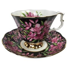 Royal Albert Fireweed Chintz Tea Cup and Saucer