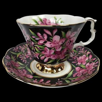 Royal Albert Fireweed Chintz Tea Cup and Saucer
