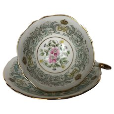 Paragon Teacup & Saucer Commemoration For Queen Elizabeth ll Coronation 1953