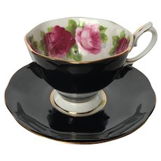 Royal Albert English Rose Black Tea Cup and Saucer