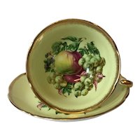 Vintage Royal Grafton Still Life with Fruit Teacup and Saucer