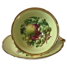 Vintage Royal Grafton Still Life with Fruit Tea Cup and Saucer