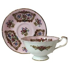 "Paragon ""Sheraton"" Pink Cup and Saucer from Antique Series"