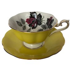Yellow Royal Albert Masquerade Tea Cup and Saucer