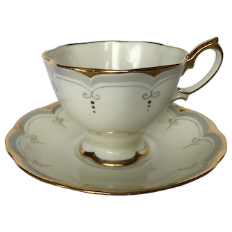 Royal Albert Art Deco Tea Cup and Saucer