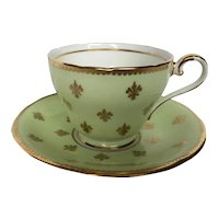 Vintage Aynsley Fleur de lis Teacup and Saucer