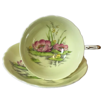 Paragon Hand Painter Water Lily Tea Cup and Saucer