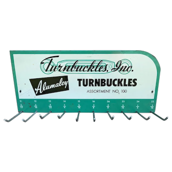1950s VINTAGE Metal Advertising Sign TURNBUCKLES, INC. Store Display
