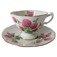 Hammersley Pink Clover Patterned Cup and Saucer