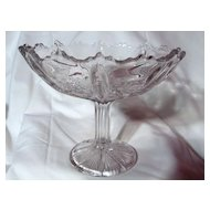 Delta Paneled Thistle Compote Jefferson Glass Crystal EAPG