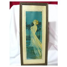 Art Deco Draped Nude Flapper Framed Print