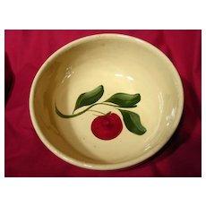 Vintage Watt Pottery Three Leaf Apple #73 Bowl