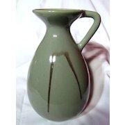 Large Blue Mountain Pottery Celadon Pitcher Vase