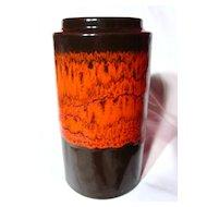 West German Scheurich Fat Lava Vase~203-18