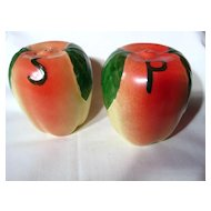 Vintage Hull Pottery Large Apple Salt & Pepper Shakers