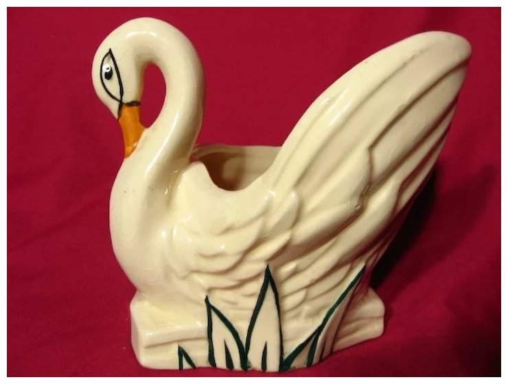 Mccoy Hand Decorated Swan Planter Vase Prairie Wind Antiques