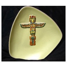 B.C. Ceramics By Herta West Coast Indian Design Series Totem Pole Bowl