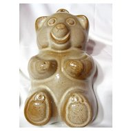 West German Pottery Teddy Bear Baking Mould ~ Model 953-21