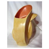 Red Wing Butterscotch And Coral Model 436 Vase