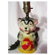 American Bisque Circus Bear Child's Lamp