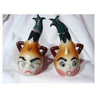 Vintage Relco Japan Anthropomorphic Onion Oil & Vinegar Set