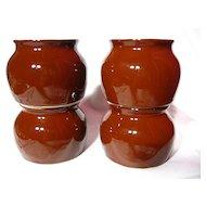 Hall China Model 461 Boston Bean Pots ~ Set of 4