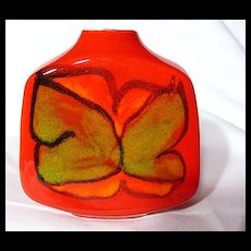 Retro Poole Pottery Delphis Slab Vase