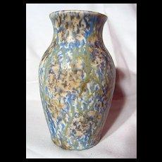 Bretby Pottery Mottled Green And Blue Vase