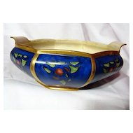 Art Deco Styled Amateur China Painted Bowl ~ 1922