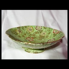 Royal Winton Green Primrose Footed Compote