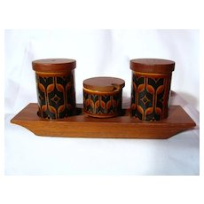 Hornsea Pottery Heirloom Autumn Brown Cruet Set