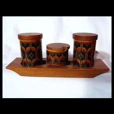 Hornsea Pottery Heirloom Autumn Brown Cruet Set