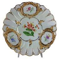Meissen Floral and Gilt Porcelain Cabinet Plate