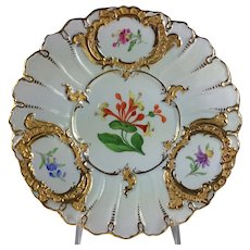 Meissen Floral and Gilt Porcelain Cabinet Plate