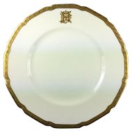 Antique Royal Doulton Dinner Plates Gilt and White Set of 4