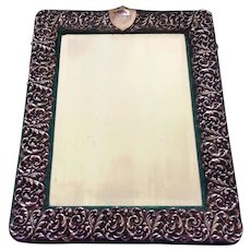 Sterling Silver Dressing Table Mirror Easel-Backed English