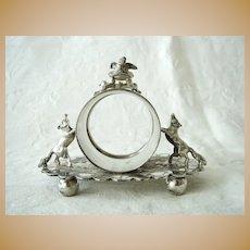 Antique Victorian Silver Plate Figural Napkin Ring Meriden/ Wilcox