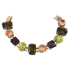 Nolan Miller Glamour Collection Lincoln Road Chunky Crystal Bracelet Designed by Mark Zunino