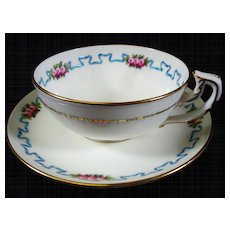 English Minton Hand Painted Tea cup and Saucer 3 available circa 1900