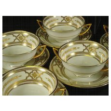 Minton for Tiffany cream soup and saucer set