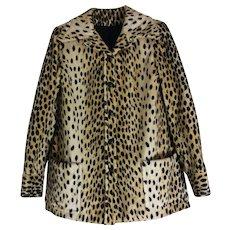 Vintage Faux Fur Leopard Print Jacket Bergdorf Goodman