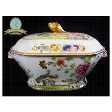 "Antique Spode ""Peacock"" pattern Soup Tureen Ca. 1820"