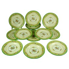 Minton Green Bread and Butter Plates set 12