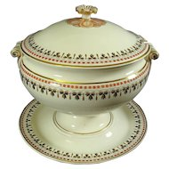 Antique Wedgwood Creamware: Queensware Tureen