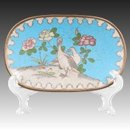 Small Cloisonne Dish With Ducks