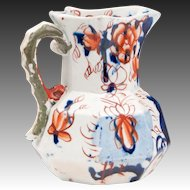 Small 19th C. Gaudy Ironstone Hydra Jug