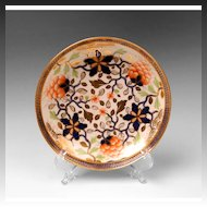 Early 19th C. English Soft Paste Porcelain Saucer, Imari Palette
