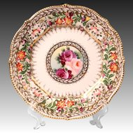 Early 19th C. Hand Painted Floral English Plate