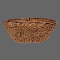 Oval Northwestern Native American Basket, Late 19th C.