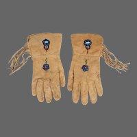 Shoshone Native American Ceremonial Gauntlet Gloves